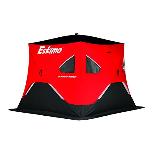 Eskimo FF949i FatFish Pop-up Portable Hub-Style Ice Shelter, Wide Bottom Design 61 sq ft. Fishable...