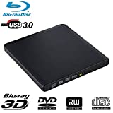 External Blu Ray DVD Drive Guamar USB 3.0 Blueray Drive Burner Player Writer Recorder for Windows/Mac/MacBook/Laptop/Desktop