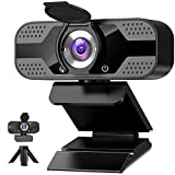Webcam with Microphone for Desktop, 1080P HD USB Computer Cameras with Privacy Shutter&Webcam...