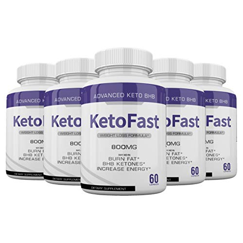 (5-Pack) Keto Fast Diet Pills BHB Advanced Ketogenic Keto Fast Burn Ultra Weight Management Capsules 700mg Pure Keto Fast Supplement for Energy, Focus Boost Exogenous Ketones for Rapid Ketosis 1
