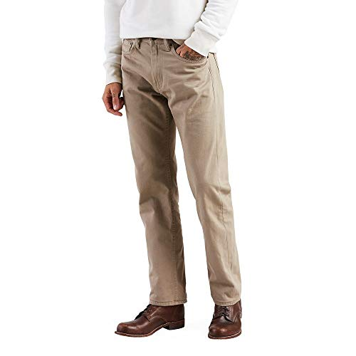 Levi's Men's 505 Regular Fit Jeans, Timberwolf - Twill, 29W x 30L