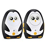 Audio Baby Monitor [Timeflys Upgraded 2.0] Cute Digital Baby Monitor Audio Rechargeable Battery USB Connection Paging Two Way Talk 1000 Feet Range Night Light Loop …