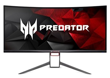 Acer Predator Gaming X34 Pbmiphzx Curved 34' UltraWide QHD Monitor with NVIDIA G-SYNC Technology (Display Port & HDMI Port),Black