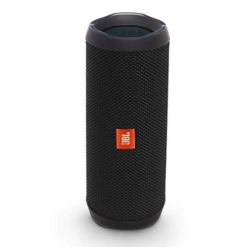JBL Flip 4 Bluetooth Box in Schwarz, Wasserdichter, tragbarer Lautsprecher mit Freisprechfunktion & Alexa-Integration, Bis zu 12 Stunden Wireless Streaming mit nur einer Akku-Ladung