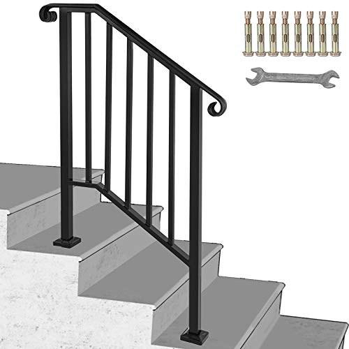 Long Hand Forged Black Iron Handrail Kit Banister 30 600Cm Wrought | Black Pipe Stair Railing | Industrial Farmhouse | Iron Pipe | Banister | Diy | Wrought Iron
