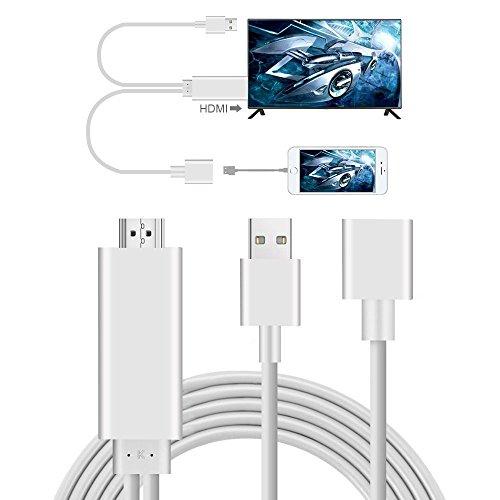 Phone a HDMI, AMANKA Full HD 1080P Mirroring Cavo Adattatore ad Phone MHL a HDMI HDTV, Compatibile...