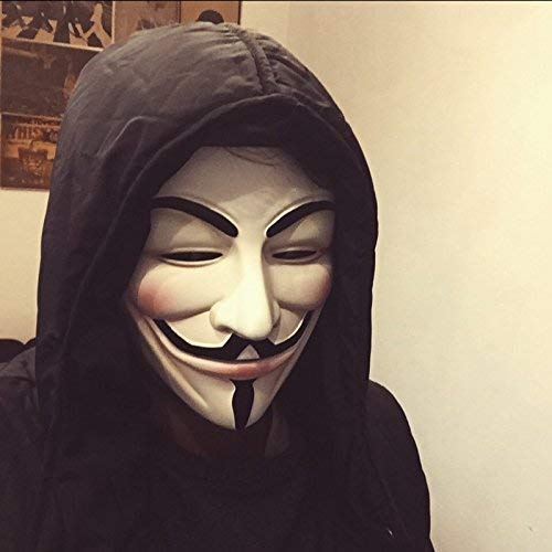 FAVELA Plastic Fawkes Mask Anonymous VIP Edition Face-Mask Cosplay Protest (V for Vendetta Hacker Face Mask)