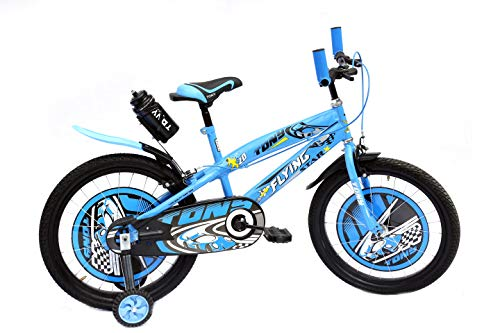 RAW BICYCLES Children 20T Sports BMX Road Bike with Training Wheels