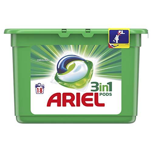 Ariel 3 in 1 Detergente Original en capsulas para lavadora 18 dosis