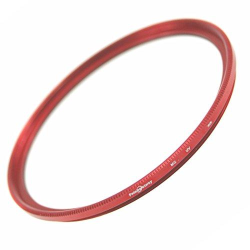 【薄枠設計】レンズ保護用フィルター【ドレスアップフィルター】レンズ保護用MC-UVフィルター72mm『RED』