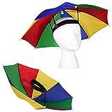 13' Rainbow Umbrella Hat for...