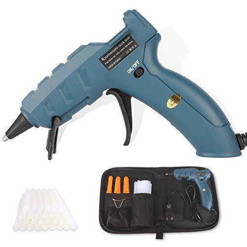 Heißklebepistole 50w Profi Klebepistole mit 30 Stück Schnelltrocknend Klebesticks PTC-Heiztechnik/Heißklebepistolen für schnelle Reparaturen in Haus & Büro und Kunst Handwerk Reparatur DIY