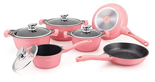 Royalty Line - Batteria da cucina per tutti i tipi di fornelli, colore: Rosa