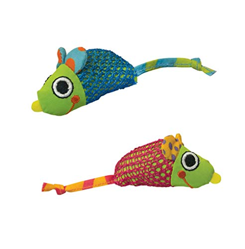 Petstages Catnip Chew Mice Dental Toy (2 Count)_DX