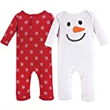 Hudson Baby baby girls Cotton Coverall, Snowman, 12-18 Months US