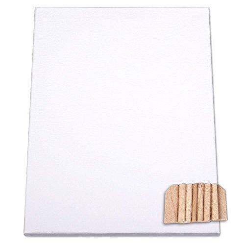 Schramm® Kanevas Keilrahmen 30x40cm Keil Rahmen bespannt mit Baumwolle Leinwand