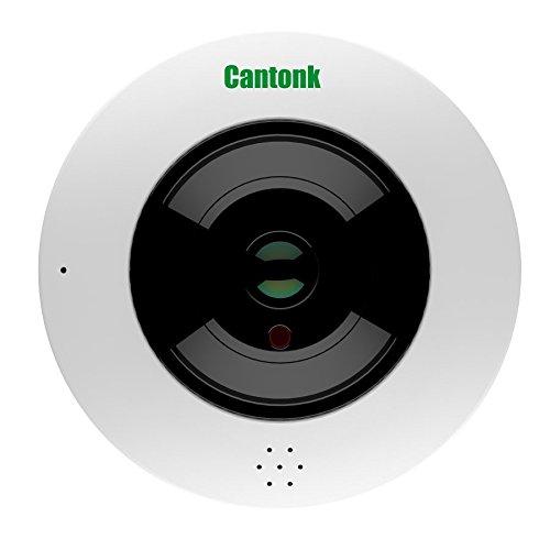 Cantonk IPDE20H600 - Telecamera fisheye 360° panoramica, Ultra HD (4.6 Megapixel), Sensore CMOS Sony Starvis, Wi-Fi + Poe, Slot microSD, H.265, H.264, ONVIF