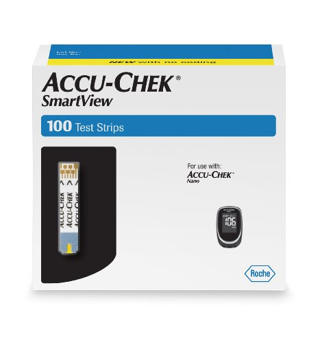 Accu Chek Smart View Test Strips, 100 Count