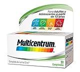 Multicentrum Complemento Alimenticio Multivitaminas con 13 Vitaminas y 11 Minerales, Sin Gluten,...