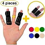 BodyMoves Finger Splint Plus Sleeve (4 pc Set, Midnight Black)