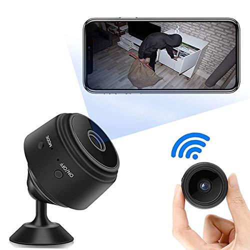 Mini Telecamera Spia Nascosta,Full HD 1080P Portatile Microcamera Spia Wifi con Visione Notturna,Micro Telecamera Videosorveglianza con Registratore,Videocamera Sorveglianza da Esterno/Interno