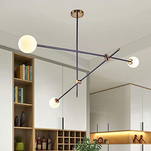 Lingkai Lampada a Sospensione Moderna con 3 Palline di Vetro Soffiato da 10 cm Lampadario...