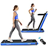 Goplus 2 in 1 Folding Treadmill, 2.25HP Under Desk Electric Treadmill, Installation-Free, with Bluetooth...