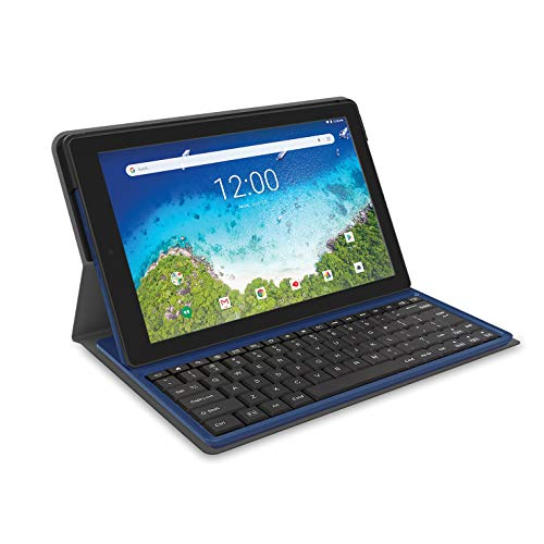 2018 RCA Viking Pro 2-in-1 10.1' Touchscreen High Performance Tablet Laptop PC, Intel Quad-Core Processor, 1G RAM, 32GB HDD, Detachable Keyboard, Webcam, Android 5.0 Lollipop, Blue
