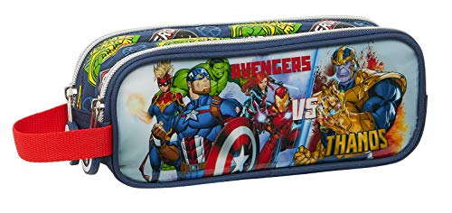 SAFTA Astuccio doppio Avengers Heroes Vs Thanos, 210 x 60 x 80 mm