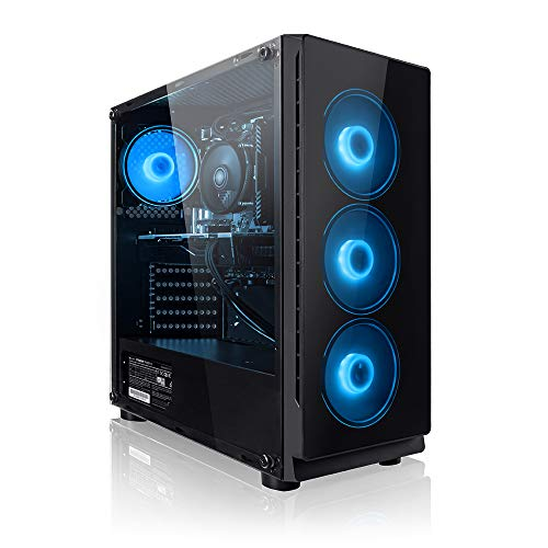 Megaport PC Gamer Ember AMD Ryzen 5 2600 6X 3,40 GHz • GeForce GTX1650 4Go • 16Go DDR4 • 240Go SSD • 1To • Windows 10 Home • WiFi • USB3.0 Unité Centrale Ordinateur de Bureau PC Gaming