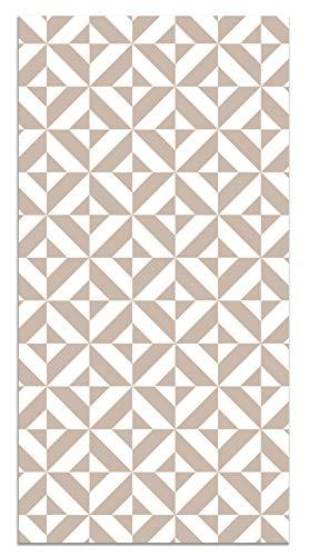Panorama Tappeto Vinile Geometria Rosa 40x80 cm - Tappeto da Cucina Vinile Antiscivolo - Tappeto Moderno Salotto - Tappeto Lavabile, Antiscivolo, Ignifugo, Anti Funghi - Tappeto PVC