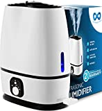 Everlasting Comfort Cool Mist Humidifier for Bedroom with Essential Oil Tray, 6L, White