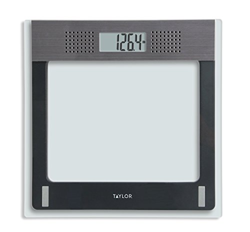 Taylor Electronic Glass Talking Bathroom Scale, 440 Lb....