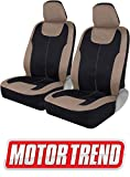 Motor Trend M224 Beige Devil's Symmetry Premium Fabric Car Seat Covers for Automotive - Polyester Interior Protection