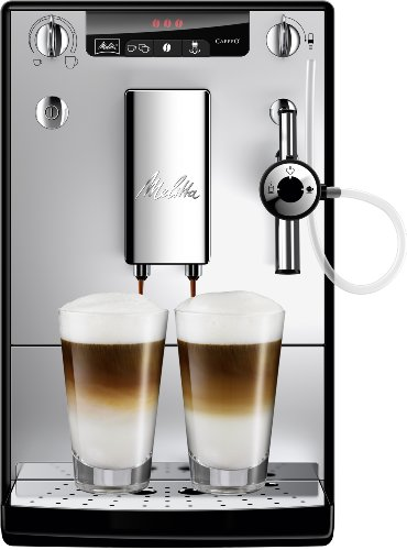 Melitta Caffeo Solo&Perfect Milk E957-103 Cafetera Superautomática con Molinillo, Auto Capuchinador, 15 Bares, Café en Grano, Limpieza Automática, Personalizable, Plata