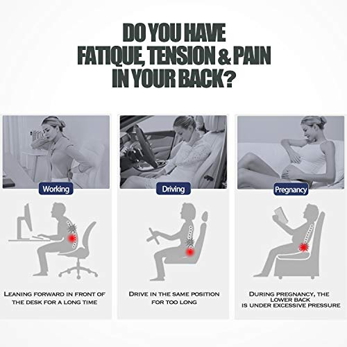 Product Image 2: matvio Back Support Pillow for Office Chair - Ergonomic Posture Corrector Pure Memory Foam Lumbar Cushion - Perfect Backrest for Car, Desk, Recliner Chair and Any Seat