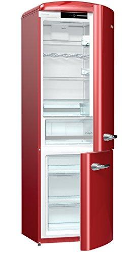 Gorenje ORK 193 R - Frigorifero combinato, A++, altezza 194 cm, frigorifero: 227 l, congelatore: 95 l, colore: Bordeaux/FrostLess/CrispZone/Oldtimer/Retro Collection