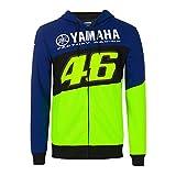 VALENTINO ROSSI Sweat à Capuche Zip VR46 Yamaha Factory M1 Racing Officiel MotoGP Bleu - XXL
