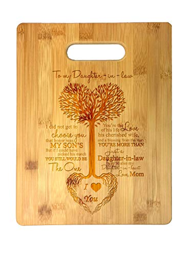 To My Daughter-in-Law Tree Heart Rainbow Sweet Sayings...
