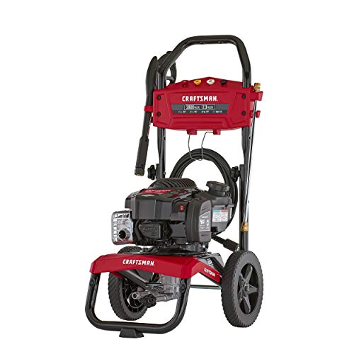 CRAFTSMAN 2800 MAX PSI at 1.8 GPM Gas Pressure Washer with ReadyStart, 25-Foot Hose, and 4 Quick-Connect Nozzles, Powered by Briggs & Stratton