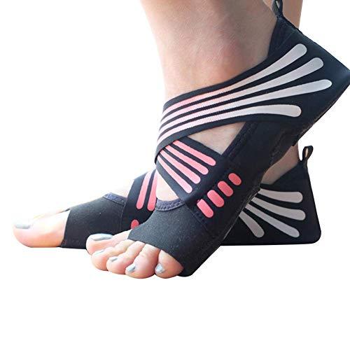 Reuvv 1 Coppia Donna Anti-Scivolo Fitness Danza Pilates Calzini Professionale Indoor Yoga Scarpe...