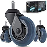 STEALTHO Patented Replacement Office Chair Caster Wheels Set of 5 - Protect Your Floor - Quick &...