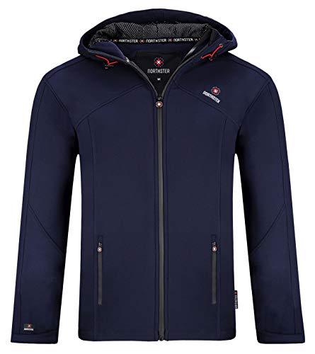 Northster Veste softshell demi-saison pour homme, veste de loisirs - Bleu -...