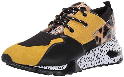 Steve Madden Men's Ridge Sneaker, Yellow Multi, 11 M US