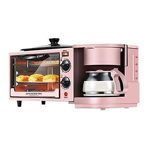 MIGUO 3-in-1 hausgemachtes warmes Frühstück! Frühstücksmaschine, Multifunktions-Mini-Elektroofen, Omelettschale, Milch, Kaffeemaschine, Toaster, Multifunktions-Elektrotopf, Bratpfanne, Mini-Backofen,