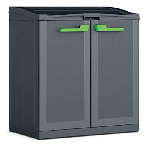 Keter Moby Recycling - Armadio Per La Raccolta Differenziata - 90X55X100H, 120 Litri, Plastica, Antracite