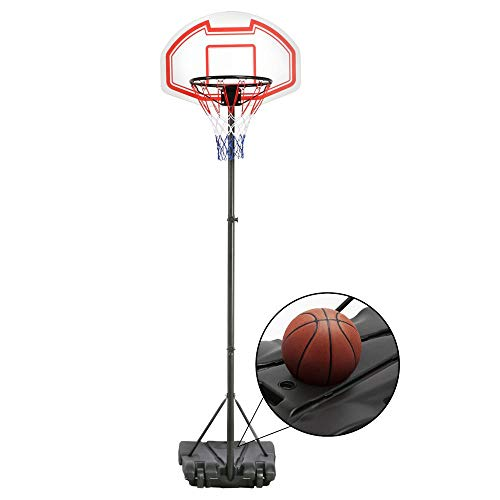 Yaheetech Portable Basketball Hoop System Height Adjustable Basketball...