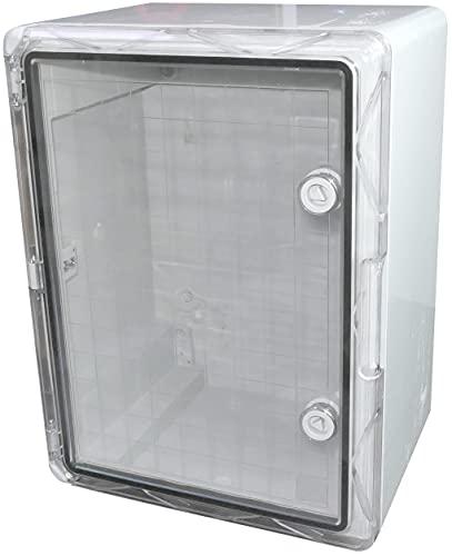 AERZETIX - Armadio/quadro elettrico a parete 400x300x220mm porta trasparente - fissaggio a parete - scatola di distribuzione/protezione - indice di tenuta IP65 - C48633