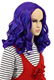 Karlery Kids Child Long Wave Purple and Blue Cosplay Wig Halloween Costumes Anime Party Wig (kids)