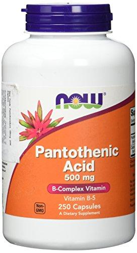 Now Foods I Pantothenic Acic I Pantothensäure I Vitamin B-5 I 500mg I 250 Kapseln